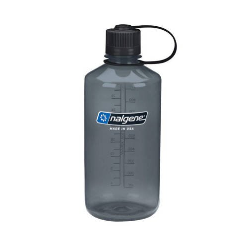 Nalgene - 32oz Narrow Mouth Bottle - 38 mm Cap - 1L - Grey