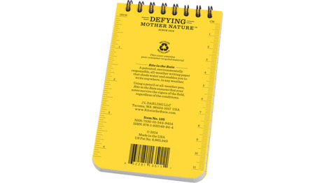 "Rite in the Rain - All-Weather Notebook - 3 x 5"" - 135 - Yellow"