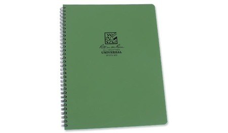 "Rite in the Rain - All-Weather Notebook - 8 1/2 x 11"" - 973-MX - Oliv"