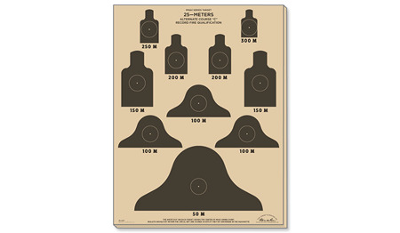 Rite in the Rain - Target 25 m - M16A1 Alt. Course 'C' - 10 pcs - 9127X