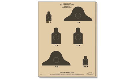 Rite in the Rain - Target 25 m - M16A1 Silhouette Slow Fire - 10 pcs - 9128X
