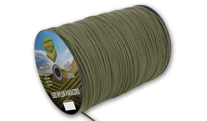 Szpula linki Paracord 550 o długości 304,8 metra, kolor