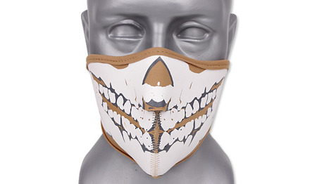 101 Inc. - Maska neoprenowa 3D Skull - Coyote Brown - 219292-CB