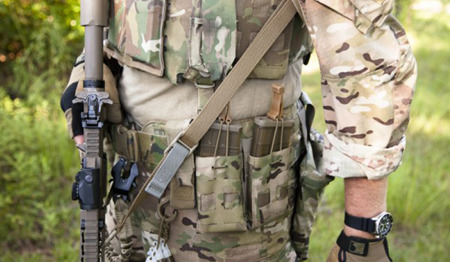 Blue Force Gear - Zawieszenie 2-punktowe Vickers ONE Sling - Klamry acetal - Coyote Brown - VCAS-100-OA-CB