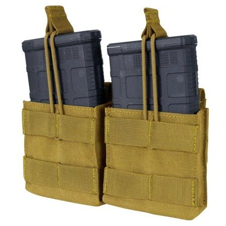Condor - Open Top Double M14 Mag Pouch - Coyote Brown - MA24-498
