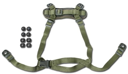EMERSON - MICH Helmet Retention System - H-Nape - Zielony OD