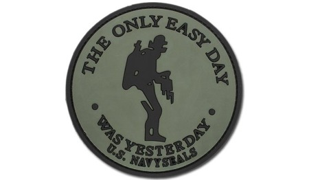 FOSTEX - Naszywka 3D - The only easy day - Navy Seals - Zielony OD