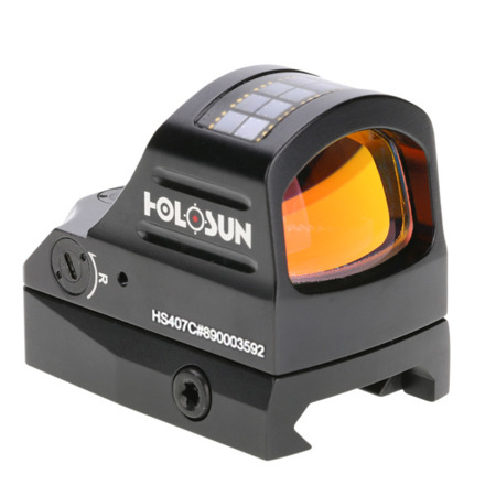 Holosun - Kolimator HS407C Micro Red Dot - Solar Panel