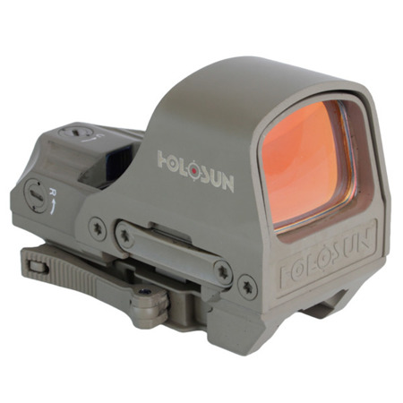 Holosun - Kolimator Open Reflex HS510C Multi Reticle - Solar Panel - Flat Dark Earth