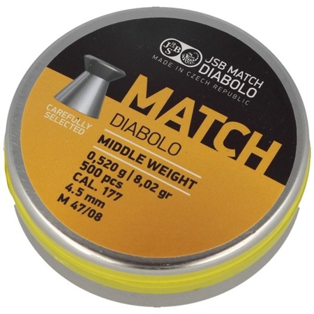JSB - Śrut Yellow Match Middle Weight - 4.52 mm - 500 szt. - 000020-500