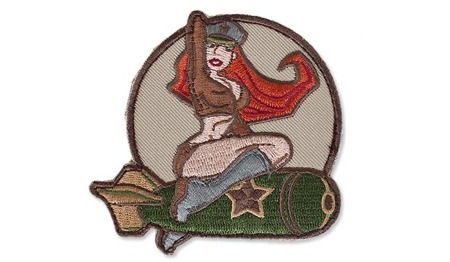 MIL-SPEC MONKEY - Morale Patch - Pinup Girl 1 - Arid