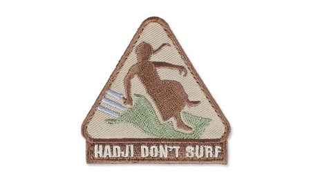 MIL-SPEC MONKEY - Naszywka Morale Patch - Hadji Don't Surf - Desert