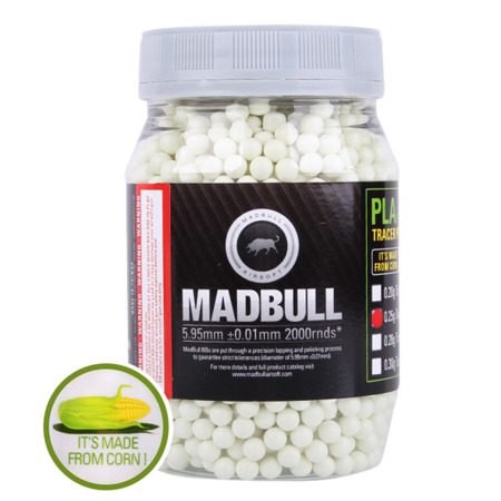 MadBull - Kulki BB - 0,25g - 2000 szt. - Tracer Eco Friendly - PLA BIO