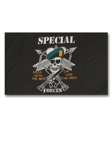 Mil-Tec - Flaga - 90x150cm - Special Forces - 16789000