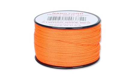 Nano Cord - 0,75 mm - Neon Orange - Szpulka 91,5m