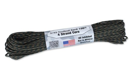 Tactical Cord 3/32 - 2,2 mm - Woodland - 30,48m